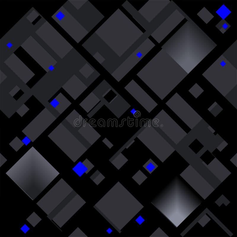 Modèle diagonal abstrait basé sur des formes carrées illustration de vecteur