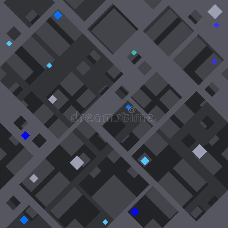Modèle diagonal abstrait basé sur des formes carrées illustration libre de droits