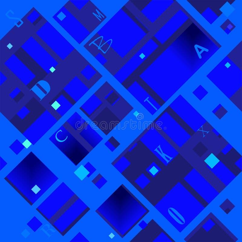 Modèle diagonal abstrait basé sur des formes carrées illustration stock