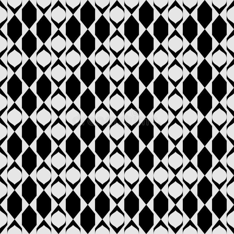 Modèle diagonal abstrait sans couture de vecteur noir et blanc Papier peint abstrait de fond Illustration de vecteur illustration libre de droits