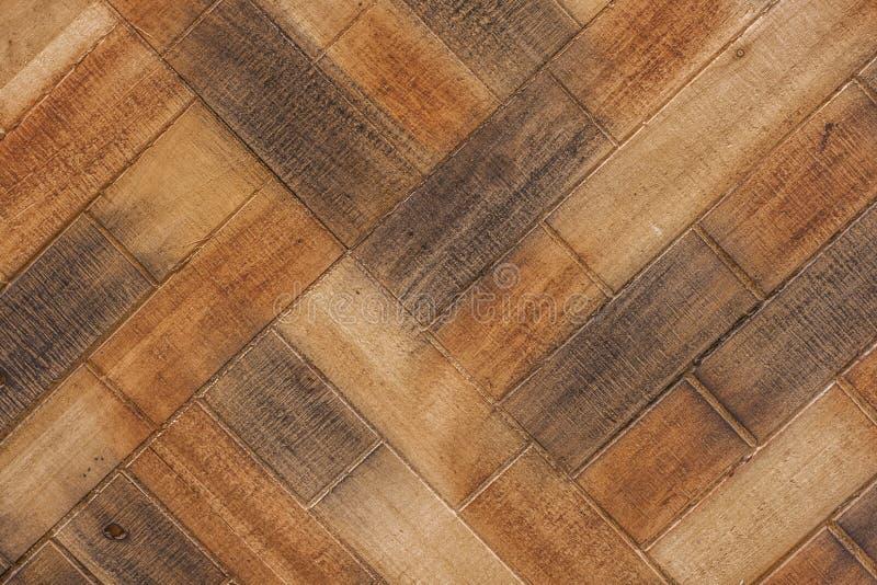 Modèle diagonal de marqueterie en bois image stock