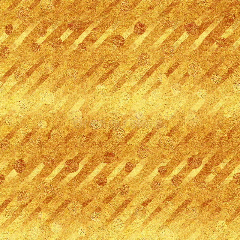 Modèle diagonal de rayures de scintillement de feuille d'or de Faux photos libres de droits