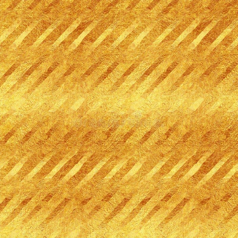 Modèle diagonal de scintillement de rayures de feuille d'or de Faux image libre de droits