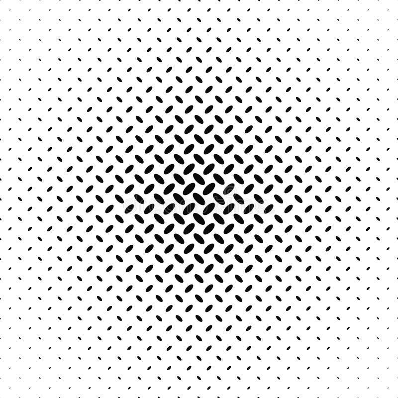 Modèle diagonal monochrome abstrait d'ellipse illustration libre de droits