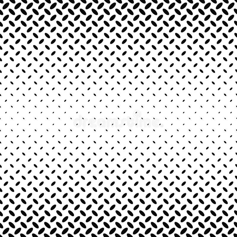 Modèle diagonal monochrome abstrait d'ellipse illustration de vecteur