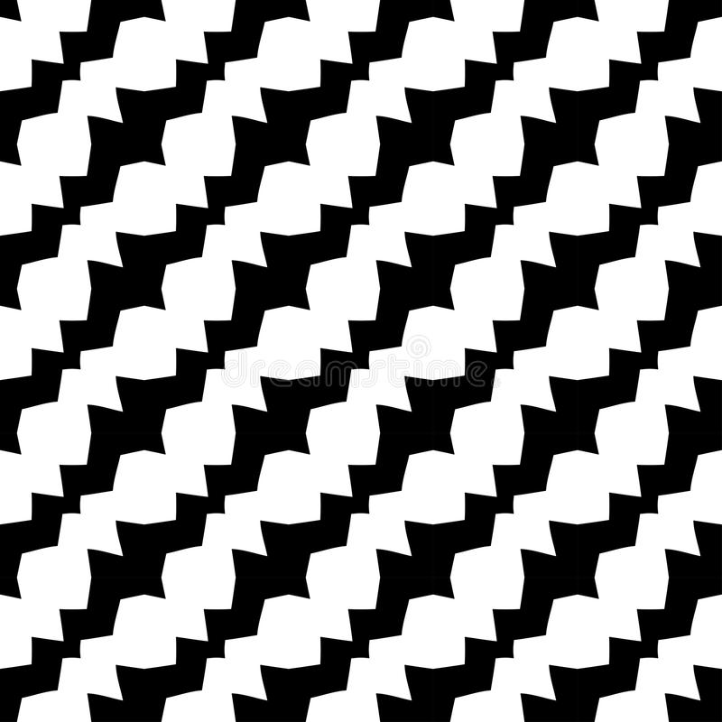 Modèle diagonal noir et blanc géométrique abstrait de deco de conception graphique illustration de vecteur