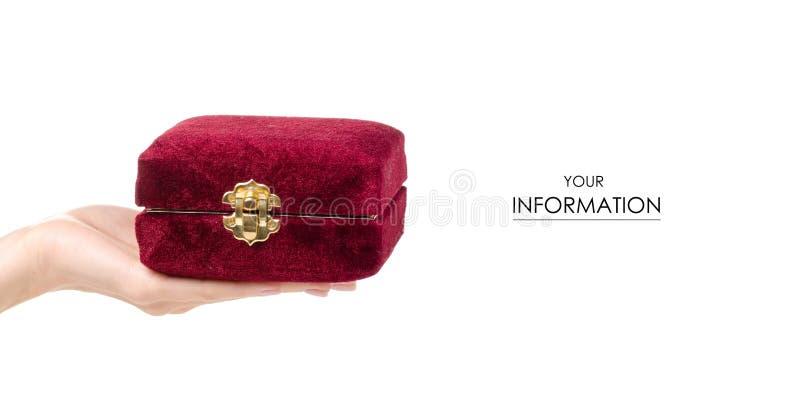 Modèle disponible de cercueil rouge photographie stock libre de droits