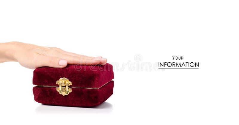 Modèle disponible de cercueil rouge photos stock