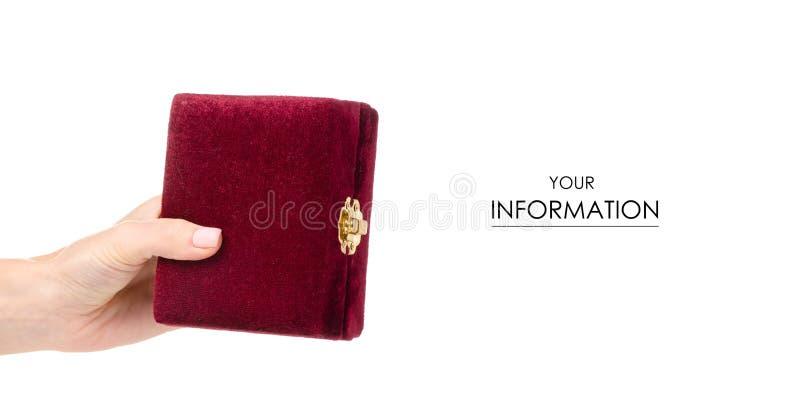 Modèle disponible de cercueil rouge image stock