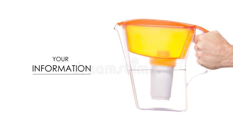 Modèle disponible de filtre d'eau photographie stock libre de droits