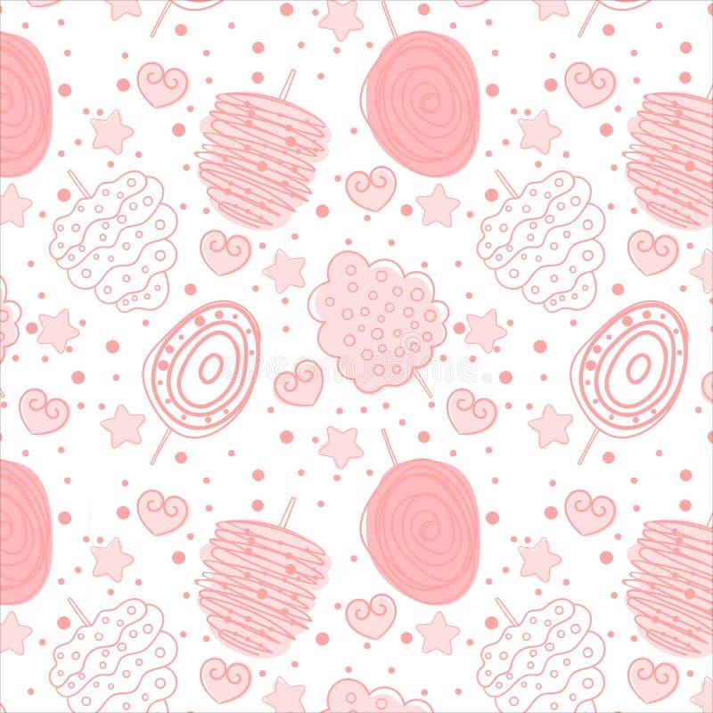 Modèle doux de coton de roses pâles sur le fond blanc photos stock