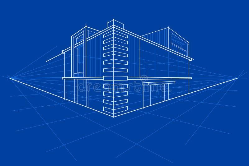 Modèle du bâtiment illustration libre de droits