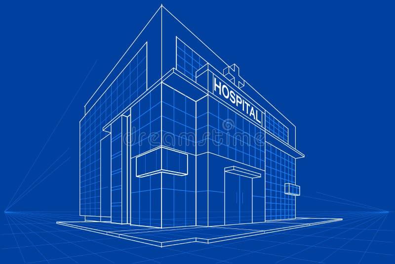 Modèle du bâtiment illustration stock