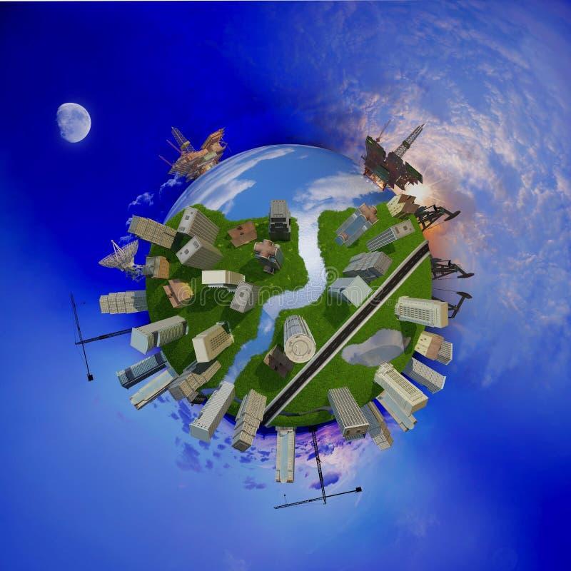 Modèle du globe illustration stock