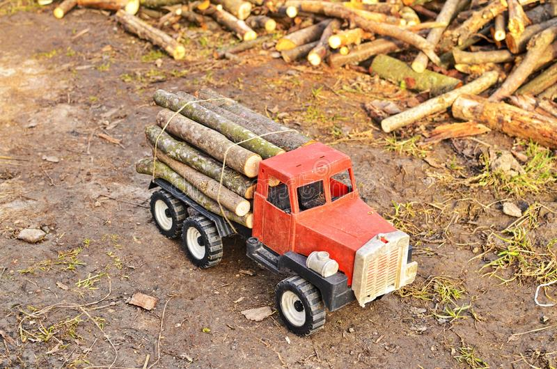 Modèle du transport du bois photographie stock libre de droits
