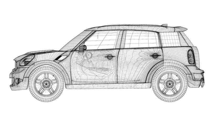 Download Modèle du véhicule 3D illustration stock. Illustration du machine - 45352368
