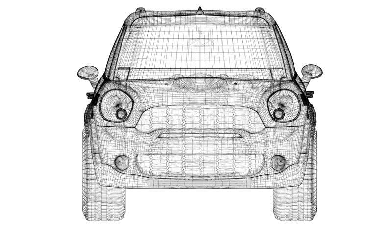 Download Modèle du véhicule 3D illustration stock. Illustration du ligne - 45352515