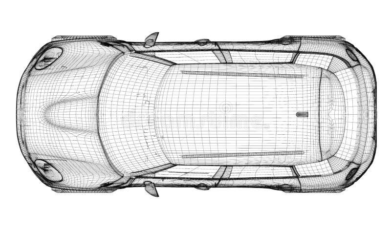 Download Modèle du véhicule 3D illustration stock. Illustration du ligne - 45352931