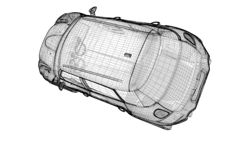 Download Modèle du véhicule 3D illustration stock. Illustration du concurrence - 45353664
