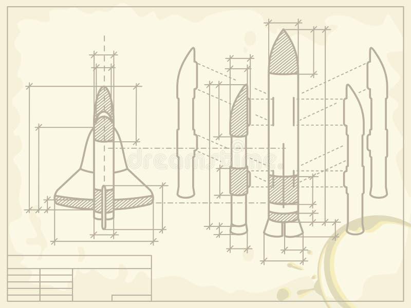 Modèle du vaisseau spatial illustration libre de droits