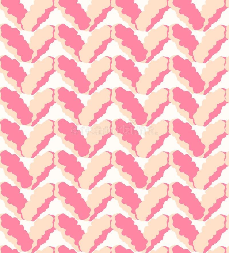Modèle duveteux de marne rose sans couture, texture de tricotage illustration libre de droits