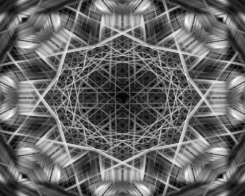 Modèle dynamique de faisceaux lumineux illustration de vecteur