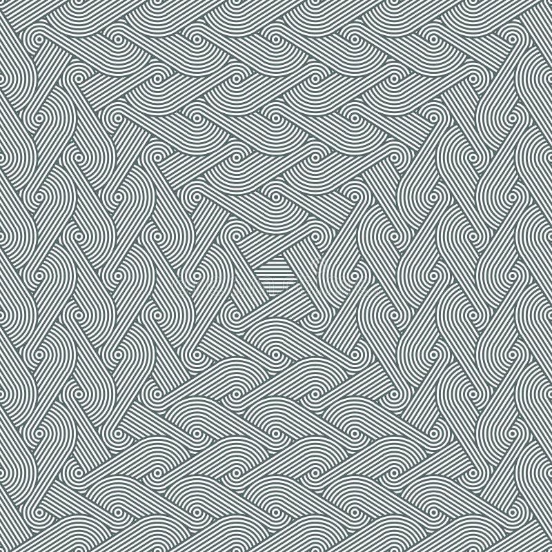 Modèle effilant sans couture dense avec répéter des rangées des cercles concentriques illustration de vecteur