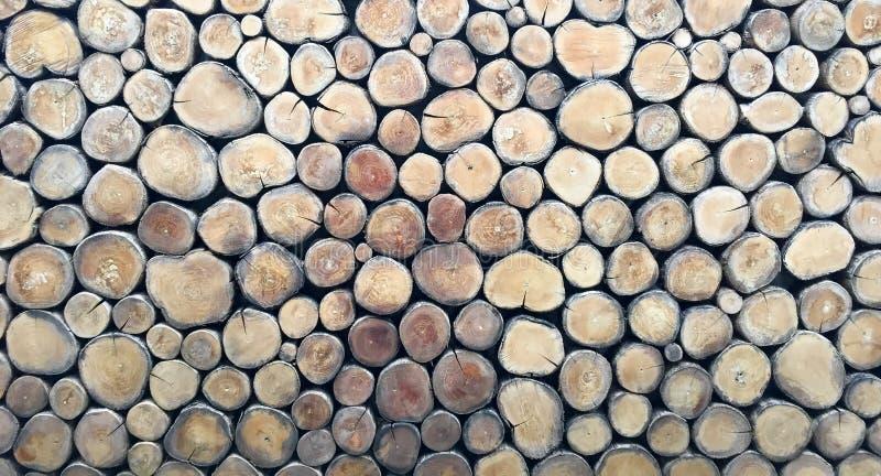 Modèle en bois de fond de rondin image stock