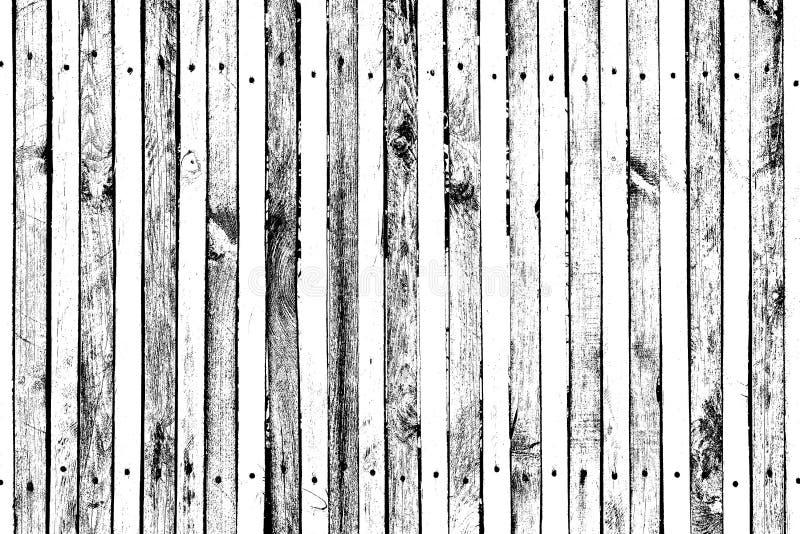 Modèle en bois grunge pour le recouvrement sur des surfaces, des planches avec des clous et des vis, beaucoup de noeuds, des fiss images libres de droits