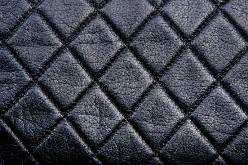 Modèle en cuir noir de diamon photo stock