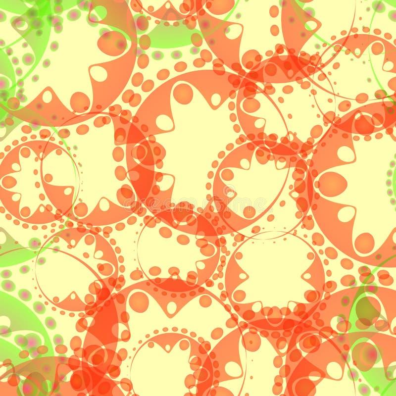 Modèle en pastel d'abrégé sur vecteur des bulles et des vitesses de savon vert i illustration stock