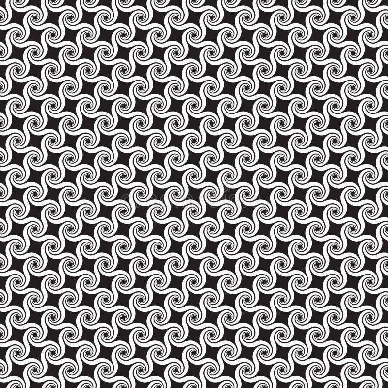 Modèle en spirale abstrait sans couture de remous illustration stock