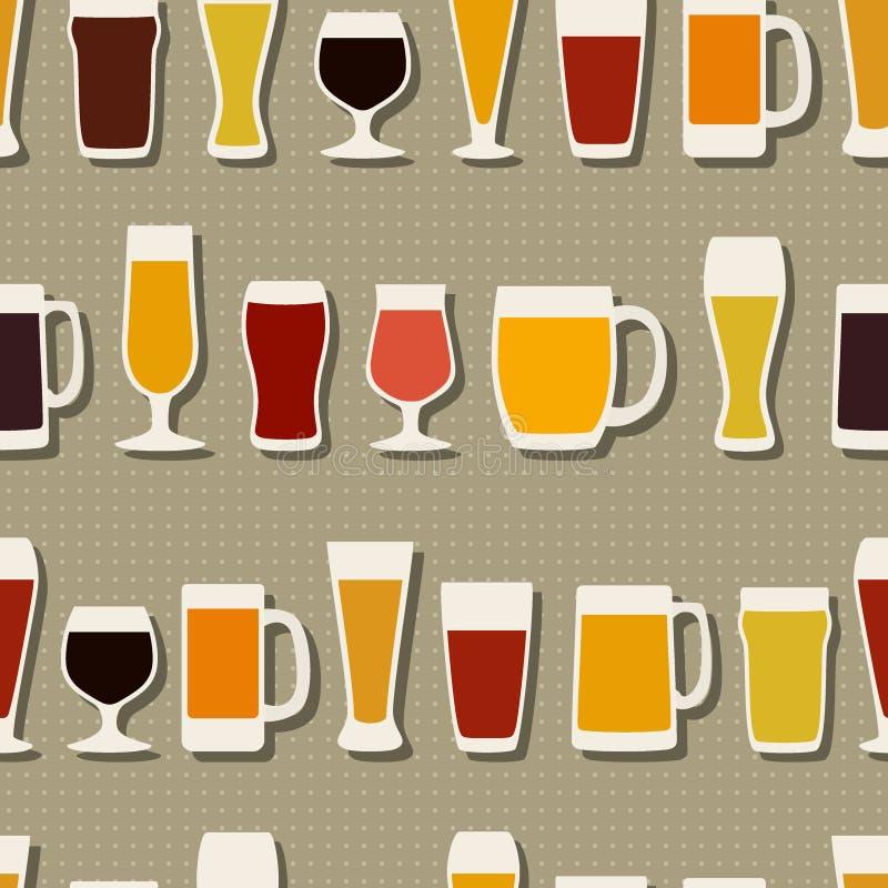 Modèle en verre de bière illustration stock