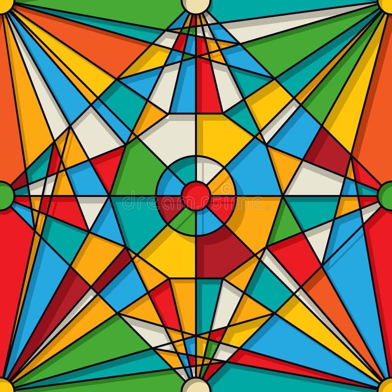 Modèle en verre souillé illustration de vecteur