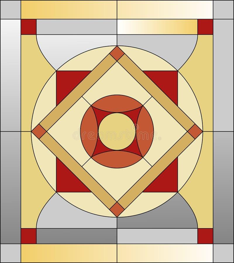 Modèle en verre souillé illustration libre de droits