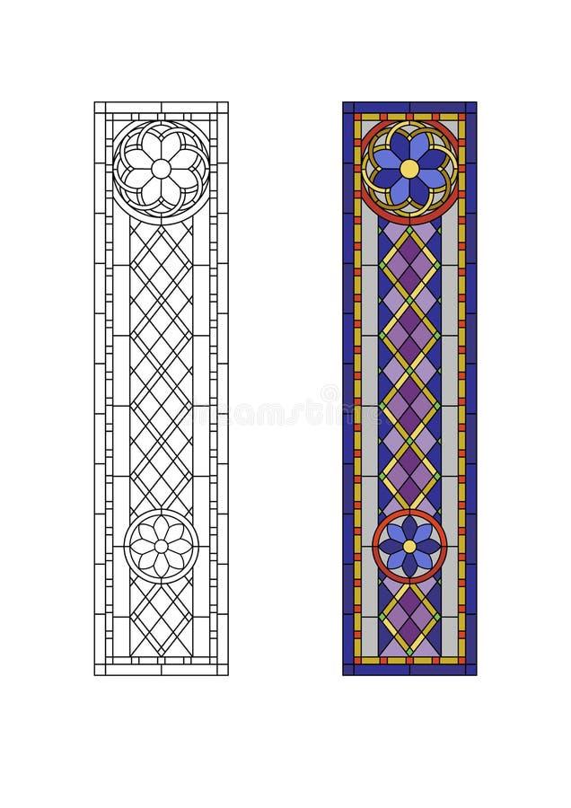 Modèle en verre souillé illustration stock