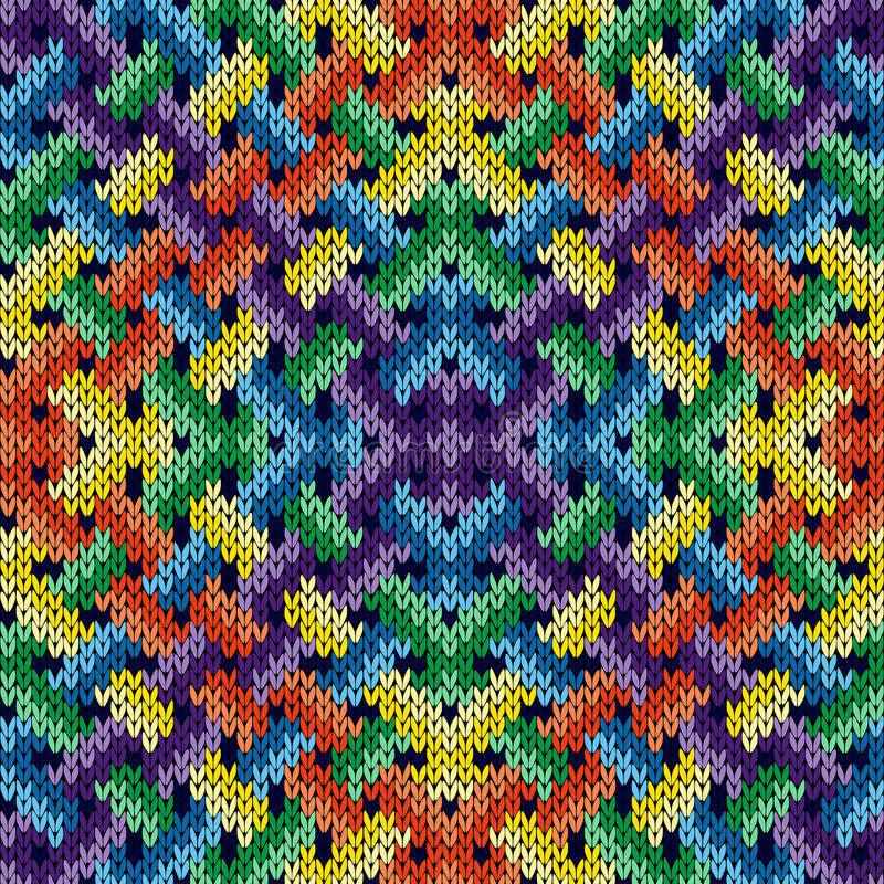 Modèle entrelacé de tricotage sans couture illustration stock