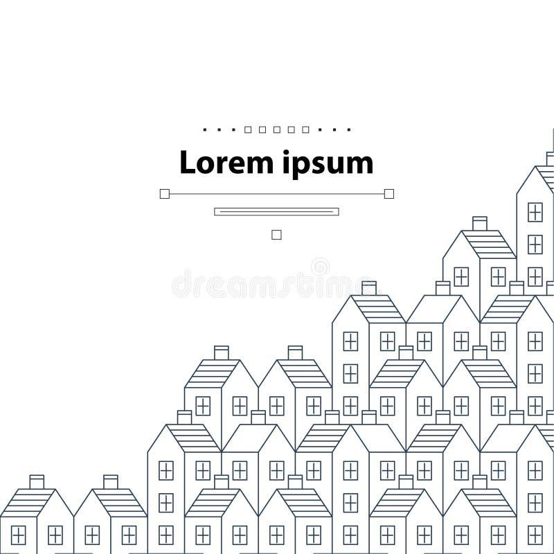 Modèle et contexte d'objet immobilier illustration libre de droits