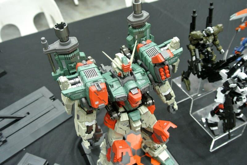 Modèle et jouets mobiles de nombre d'actions de Gundam de costume image stock