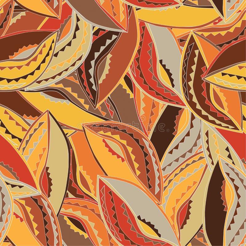 Modèle ethnique coloré avec les motifs d'un bouclier de danse du peuple de Kikuyu du Kenya central illustration de vecteur