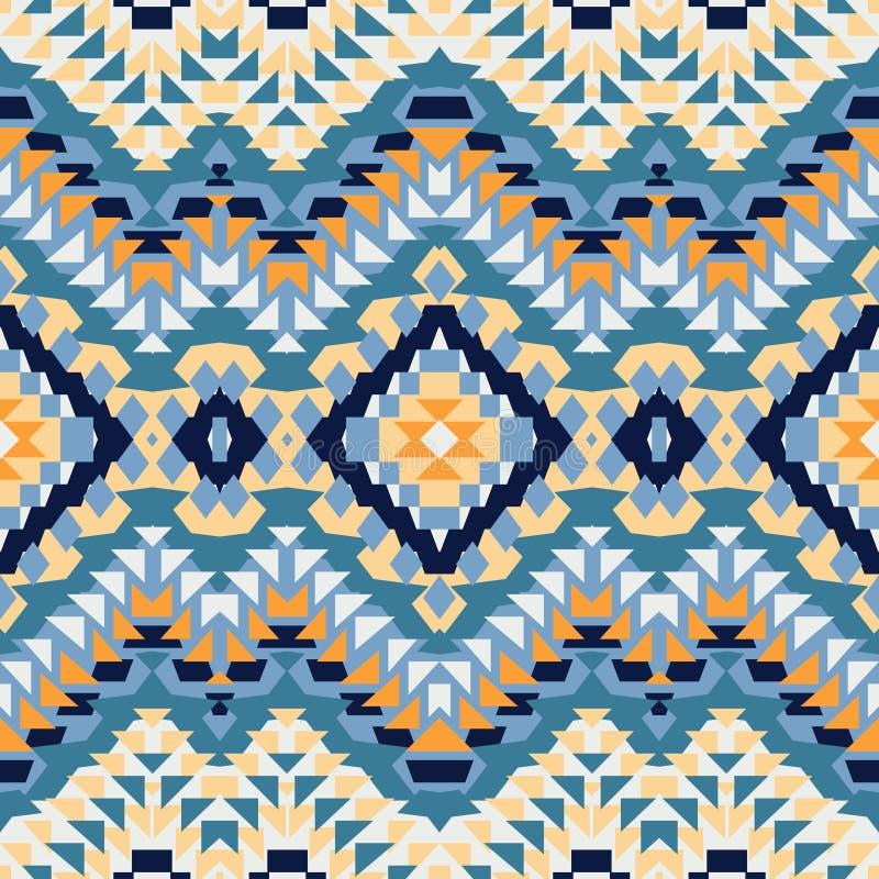 Modèle ethnique coloré sans couture illustration stock