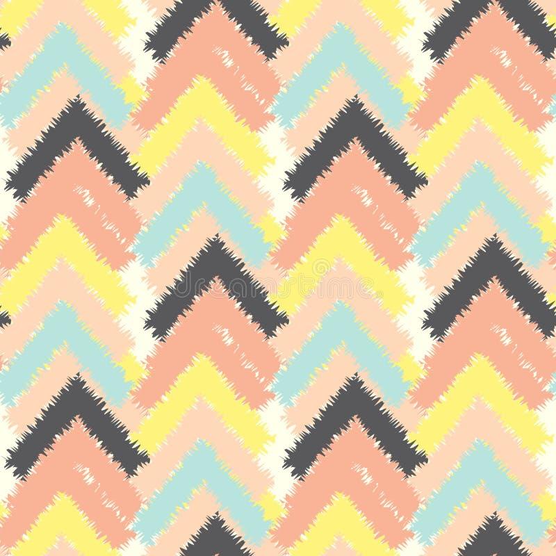 Modèle ethnique coloré sans couture de vecteur avec des flèches, ornement tribal Configuration ethnique Configuration sans joint  illustration libre de droits