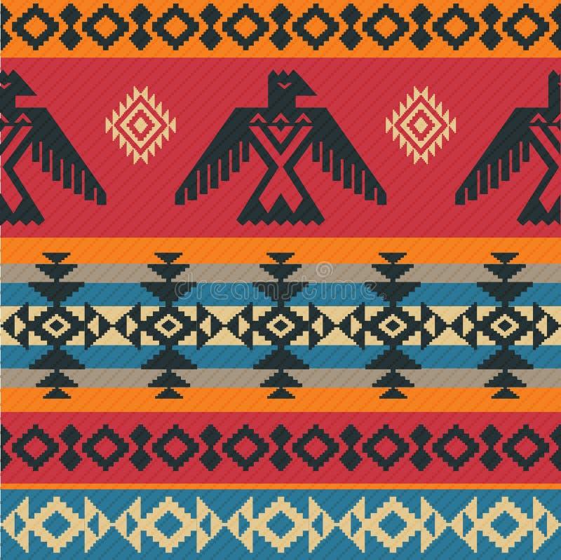 Modèle ethnique d'Eagles sur le style de natif américain illustration libre de droits