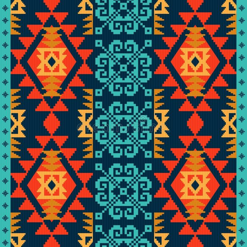 Modèle ethnique de style de Navajo illustration stock
