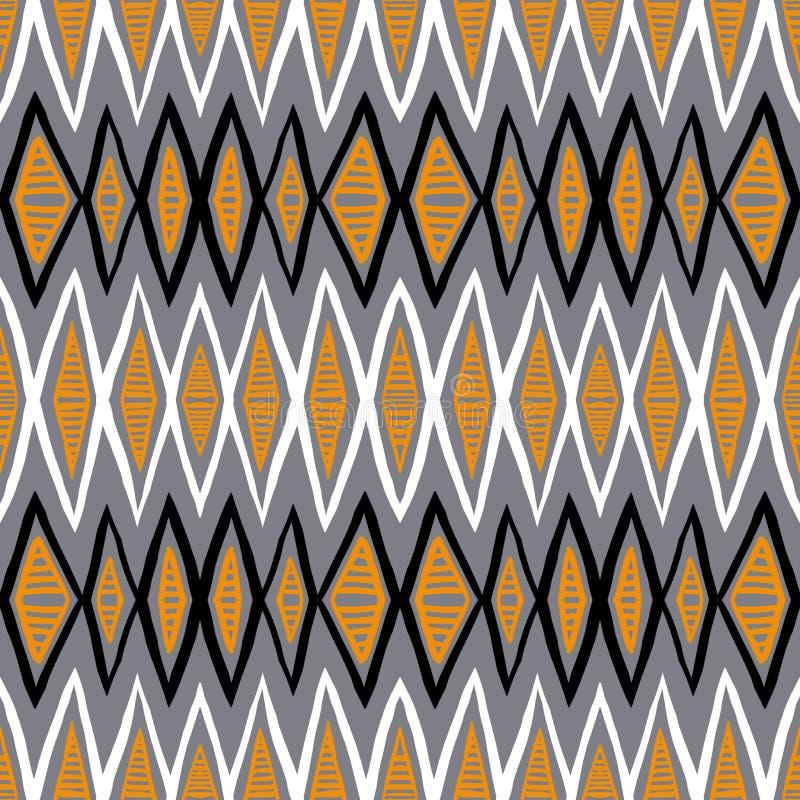 Modèle ethnique de vecteur avec des lignes de zigzag illustration de vecteur