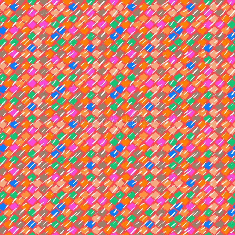 Modèle ethnique de vecteur dans des couleurs lumineuses. illustration de vecteur