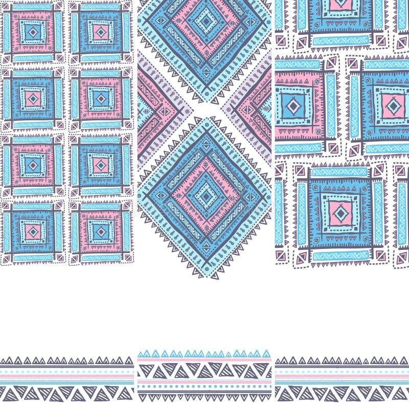Modèle ethnique de vintage tribal sans couture illustration de vecteur