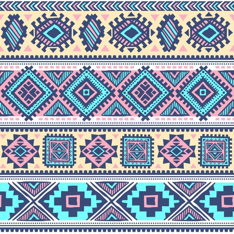 Modèle ethnique de vintage tribal sans couture illustration stock