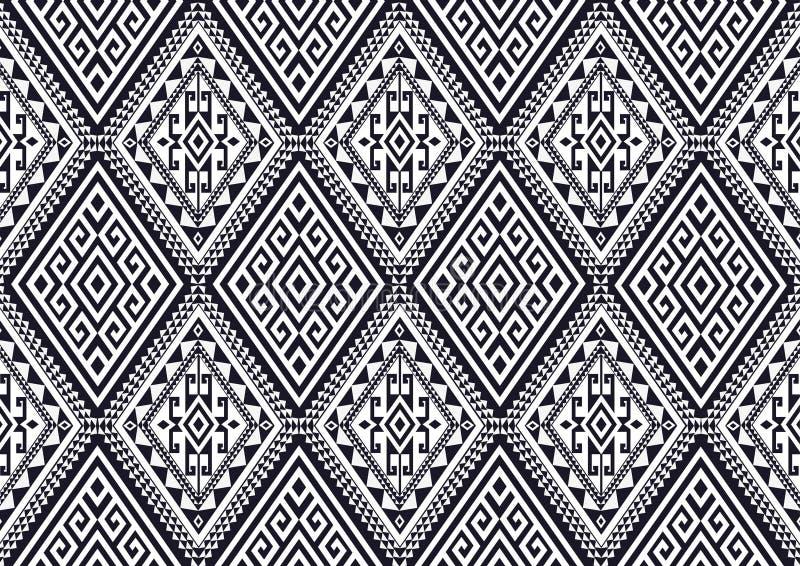 Modèle ethnique géométrique illustration stock