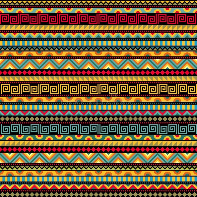 Modèle ethnique sans couture abstrait illustration stock